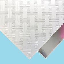Fancy Suspended Ceiling Tiles Vinyl EasyClean Wipeable, 600mm x 600mm 6Tiles/Box