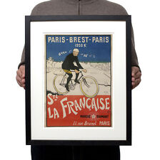 1901 Paris Brest vainqueur Maurice Garin velo Reproduction Poster Print Wall Art