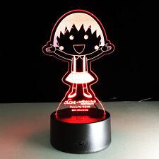 3D Nuit Lumière Acrylique Lampe Chibi Maruko Sakura Momoko Cadeau Décoration
