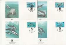 WWF 4 x FDC Niue 1993 - Vissen Dolfijn / Fish Dolfin (421)