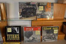 Vintage Original Locomotive Recordings 11 Records Midcentury 1950s and 1960s