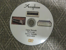 Accuphase brochures, service manuals, owners manuals and schematics on 1 DVD