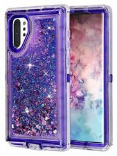 For Galaxy Note 10+ Plus Glitter Defender Case (Fits with Otterbox Clip) Purple