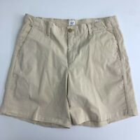 Gap Girlfriend Chino Shorts Women's Size 10 Cream Tan Slash Pocket Above Knee