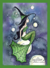 Bubble Magic Witch Mermaid print from Original Painting By Grimshaw Halloween