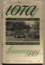 IOTA 500 CLUB RACING Car Magazine Sept 1948