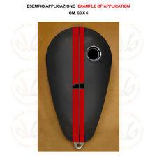 Adesivo serbatoio striscia rossa quadri neri red black sticker moto tank 1 pz