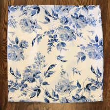 "Pier 1 Blue White  Watercolor Floral Accent Throw Pillow Cover 18"" EUC"