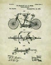 Bicycle Patent Poster Art Print Vintage Bike Parts Service Repair Toys PAT374