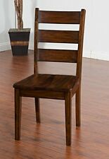 Sunny Designs Tuscany Ladderback Chair with Wood Seat New