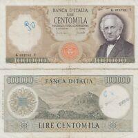 1970 Italia Banconota Lire 100000 Manzoni  D.M. 19-07-70 Circolata Vedi Foto R4