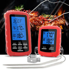 Wireless Digital Cooking Food Meat Thermometer Dual Probe for Smoker Grill BBQ