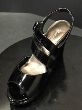 9ba7a47fb272 Rose Petals by Walking Cradles Presley Ankle Strap Sandal Heels Black Size  10 M