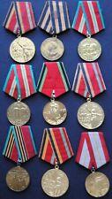 original Soviet Russian USSR  lot #113 of 9 medals Russia Stalin Lenin Red Army