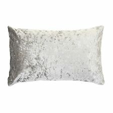 "Rectangle Scatter Crushed Velvet Cushion ICE SILVER / GREY COVER ONLY 11"" x 21"""