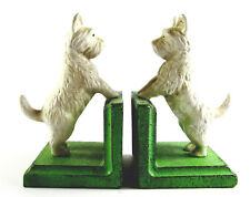 West Highland Terrier Bookends - Cast Iron Aged Appearance Approx 15cm High