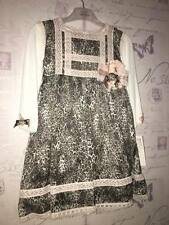 Little Darlings Leopard Frilly Romany Baby Girl Party Dress Authentic NEW 2 Year