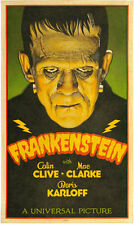 "Frankenstein Movie Poster Replica 11.5 x 19"" Photo Print"