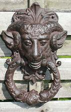 GRANDE BATACCHIO GHISA stile antico nostalgico Figura decorazione porta parete