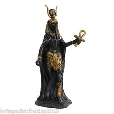 HATHOR FIGURINE ANCIENT EGYPTIAN GODDESS OF LOVE BEAUTY STATUE BLACK GOLD