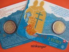 SLOWAKEI 2013 2 EURO COINCARD - KONSTANTIN UND METHOD -