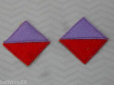 WW1 22nd AIF Battalion color patchs=one pair