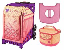 Zuca Sport Bag - Sunset with Gift Lunchbox and Seat Cover (Purple Frame)