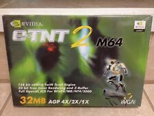 NEW EVGA Nvidia RIVA TNT2 TNT 2 (E-TNT2) M64 AGP Video Graphics Card 32MB