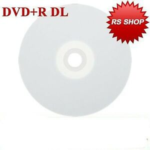 10 Full Face Printable Dual Layer DVD+R DL Blank Discs