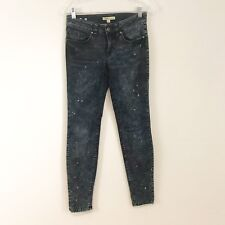 CAbi Jeans Womens Jeans Size 0 Skinny Acid Wash Bleached