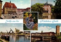 Heilbronn , Grüße aus der Käthchen-Stadt, Ansichtskarte, 1964 gelaufen