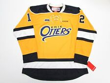 ERIE OTTERS ANY NAME / ANY NUMBER OHL NEW HOME YELLOW CCM PREMIER HOCKEY JERSEY