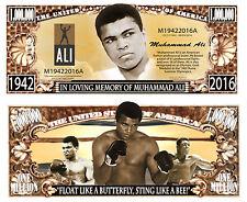 MUHAMMAD ALI - BILLET Commemoratif DOLLAR US! BOXE Cassius Clay American Boxer 2