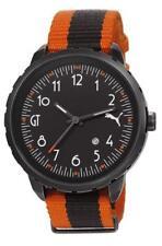 PUMA reloj POWER GT2 pu103391002 Análogo Textil Naranja, negro