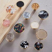 Round Brass Drawer Knob Floral Handles Cupboard Pulls Cabinet Furniture Hardware
