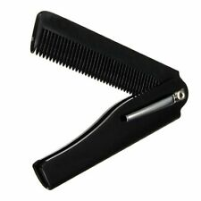 Mens Womens Beauty Handmade Combs Folding Pocket Clip Hair Moustache Beard Comb