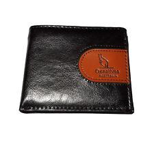 Australian Souvenir Mens Brown Tan Leather Wallet - Kangaroo Embossed Oznative