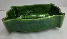 Vintage Upco # 295 Green ceramic rectangle Planter made in Usa