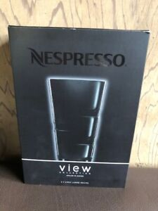 2 View Large Recipe Glasses Capucchino Collection Nespresso