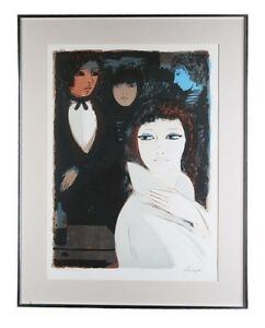 """""""Night Life"""" Limited Edition 78/200 Lithograph by Charles Levier, Framed 29x23"""""""