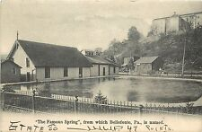 1901-1907 Lithograph Postcard; The Spring from which Bellefonte PA is Named