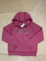 Women's Abercrombie A&F Cozy Full-Zip Graphic Hoodie Medium Pink - New With Tags