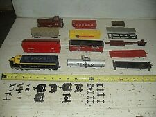 Parts Lot Old Vintage HO Gauge Train Engine Cars Tyco Mantua