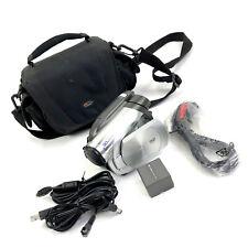 Panasonic Vdr-D100 Camcorder Dvd Camera Silver w Lowepro Case