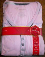 Womens/Missy Knit&Flannel Pajamas szXXL CROFT&BARROW Sleep/Lounge Pink/Plaid NIP