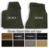 Chrysler 300 Velourtex 2pc Carpet Floor Mats- Choice of Carpet Color & Logo