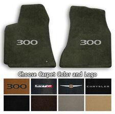 Chrysler 300 Velourtex 2pc Carpet Floor Mats- Choice of Carpet Color & Logo