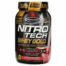Muscletech Nitro Tech 100 Whey Gold Strawberry 2 20 lbs 999 g Banned Substance