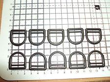 "10pcs. Black  Plastic D Ring Buckles for Webbing - 20mm ""DPP"""