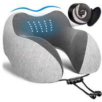 U Neck Pillow Aircraft Travel Pillow Memory Foam Cushion Support Office HeadRest